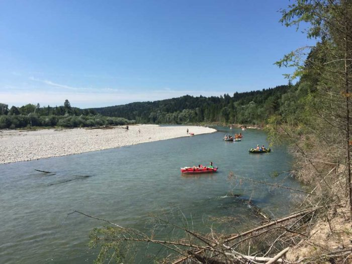 Munich outdoor experience float down the River Isar